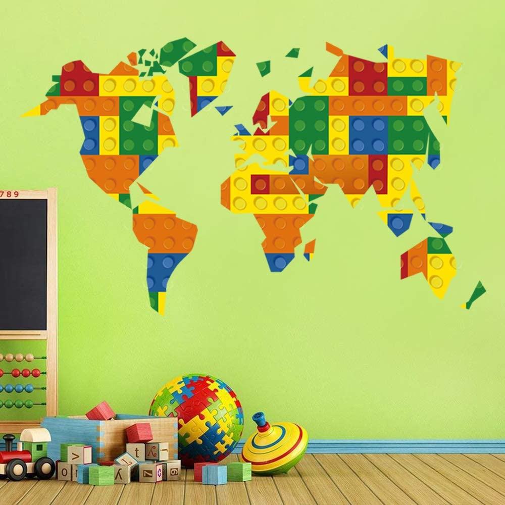 Decalmile Construction Kids Wall Stickers Cars Transportation Wall Baby Children