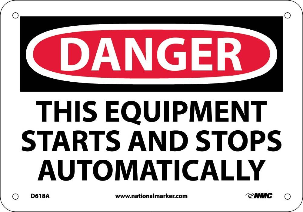 D618A National Marker Danger Equipment Safety Sign