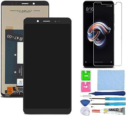 Pantalla LCD Táctil Asamblea Repuesto Compatible con Redmi Note 5 Global Version Negro con Herramientas + Película Templada: Amazon.es: Electrónica