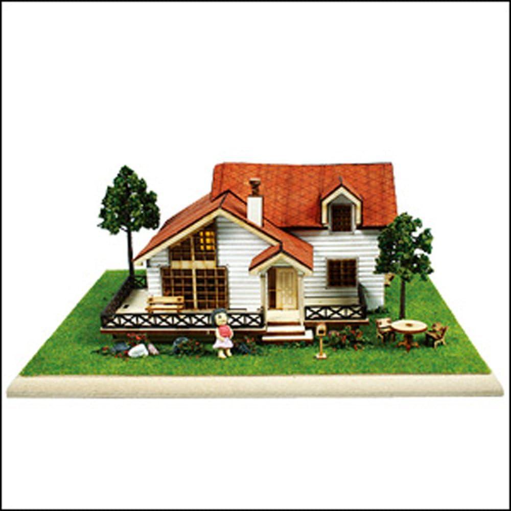 Desktop Wooden Model Kit Garden House