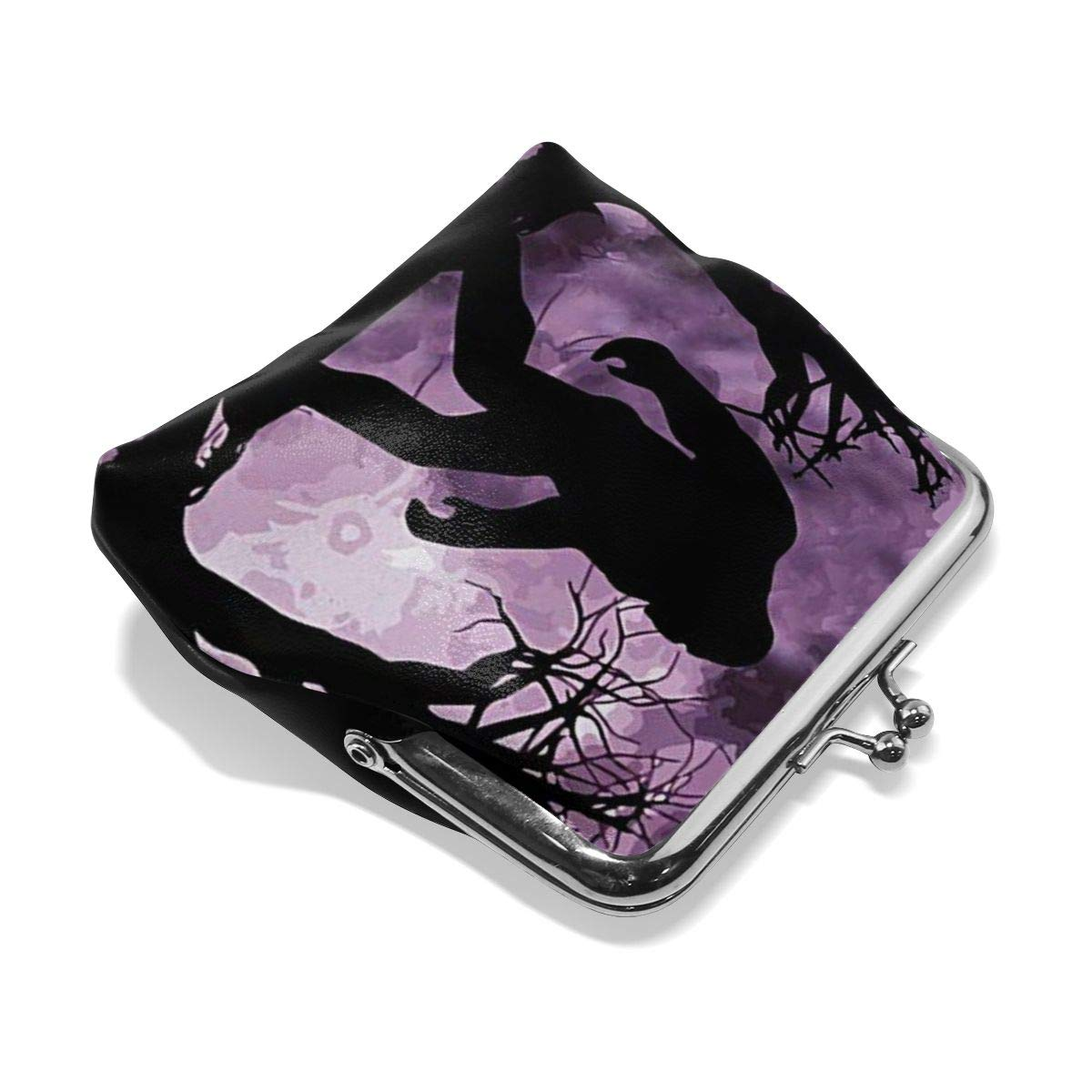 Womens Funny Sasquatch Bigfoot Buckle Coin Purses Clutch Pouch Wallet