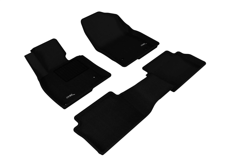 Black CFMBX1CR9221 Coverking Custom Fit Front and Rear Floor Mats for Select Chrysler LeBaron Models Nylon Carpet