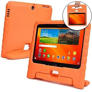 Funda Infantil Cooper Cases (TM) Dynamo para Samsung Galaxy Tab 4 10.1 & 3 10.1 en Naranja + Protector de Pantalla gratuito (Ligera, absorción de ...