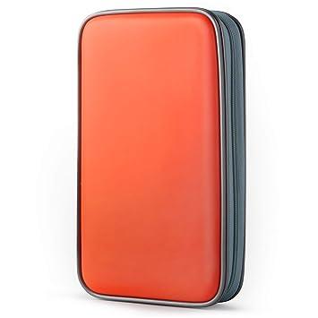Coofit Estuche para CD, Porta CD de 80 Disco Almacenamiento DVD Bolsas Funda Protectora de Organizador Protectora de plástico y VCD de plástico ...