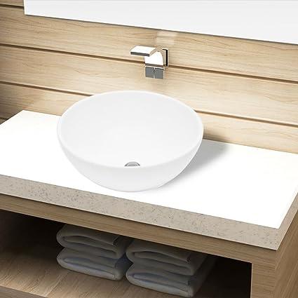 vidaXL Lavandino lavello lavabo da appoggio da bagno in ceramica ...