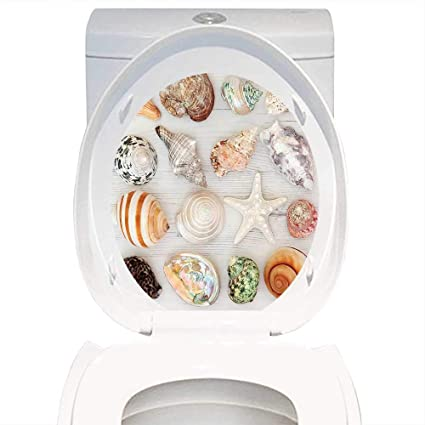 Magnificent Amazon Com Qianhe Home Decal Wall Tropical Seashells Uwap Interior Chair Design Uwaporg