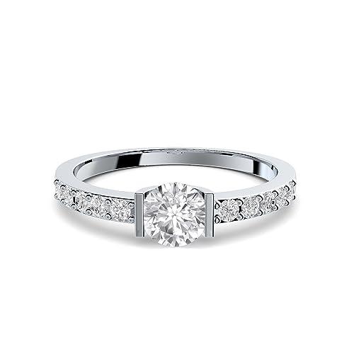 Compromiso anillos con circonita + estuche! Anillo de compromiso matrimonio idea petición boda idea Anillo