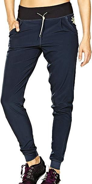 Elle Sport Elegante Sensacion Tejida De Las Mujeres Pantalones Pantalones Mujer Color Gris Black Yellow Grey Tamano Xs Amazon Es Deportes Y Aire Libre
