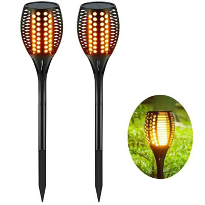 Luce Solare Torcia Luce A LED per Esterni A 96 LED Garden Lawn, Garden, Decorative Light,2