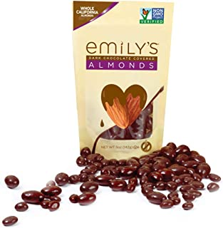 product image for Emily's NON GMO Dark Chocolate Covered Almonds, 5 Ounce