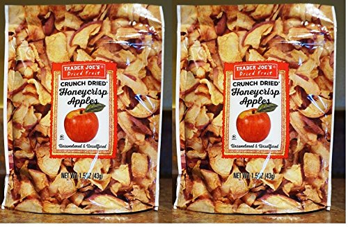 Trader Joe's - Crunch Dried Honeycrisp Apples NET WT. 1.5 1OZ (43g) - 2-PACK