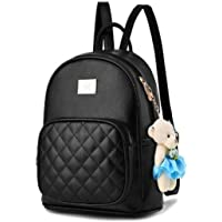 Alice Leather Black Backpack for Women