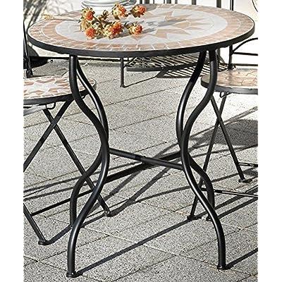 Table de jardin Florenza, mosaïque meuble en Méditerranée manche ...