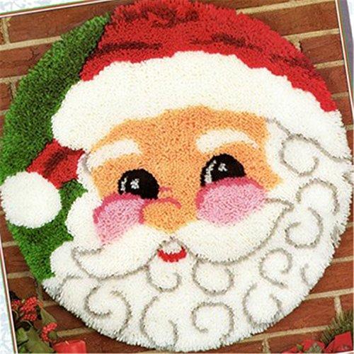 手作りキットDIY 楽しい手芸 刺しゅうより簡単 かわいい 小さい絨毯 多用途 ざぶとんマット ラグ プレゼント ふわふわ 立体感