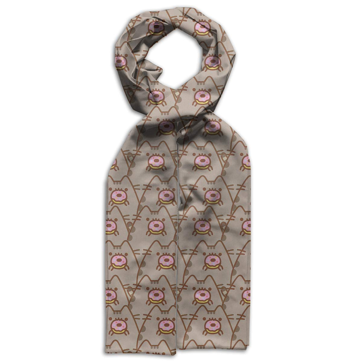 Eating Doughnuts Cats Kids Printed Scarf Cute Winter Infinity Scarf Warmer Travel Scarf For Kids Perfect Birthday Gift