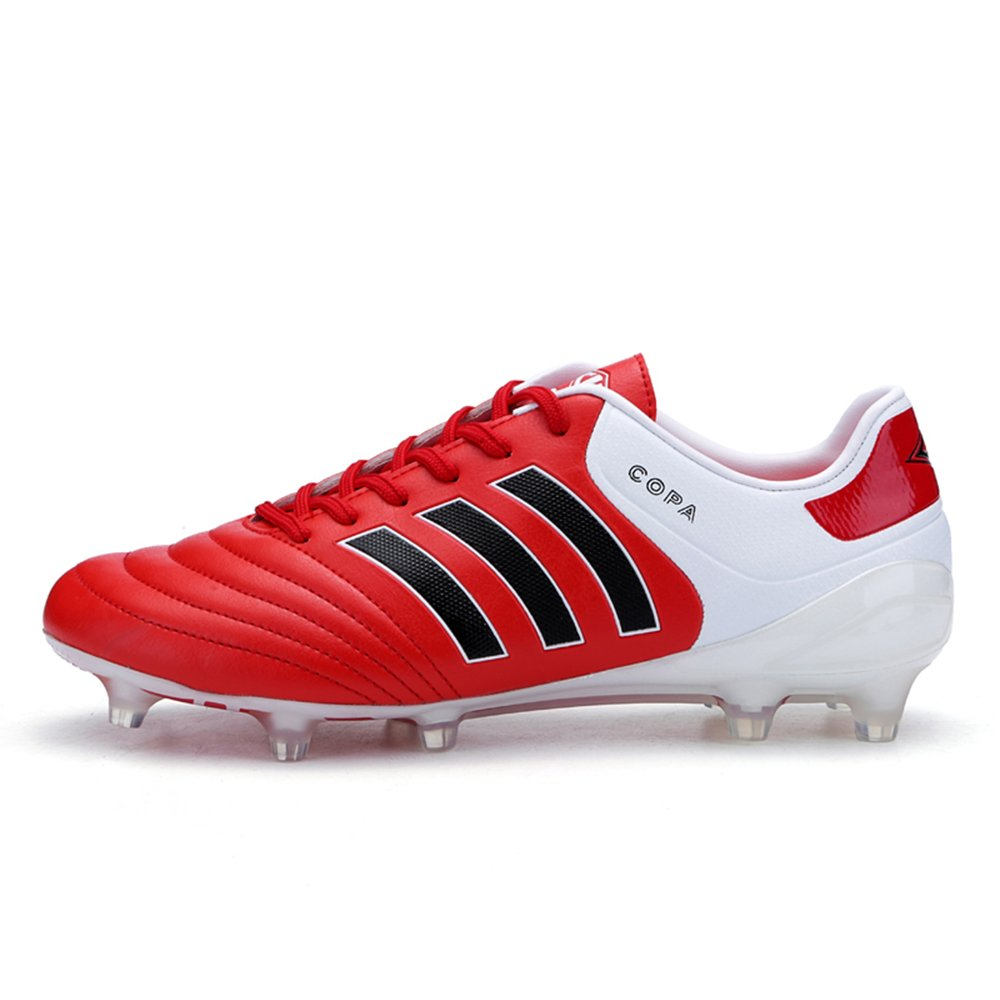 AUJESS FG Soccer Shoes Men Outdoor Copa Soccer Cleats Low Top Football Cleats For Adults B07BP4D7HK US 9.5=EU 43=foot length 26.5cm|Red