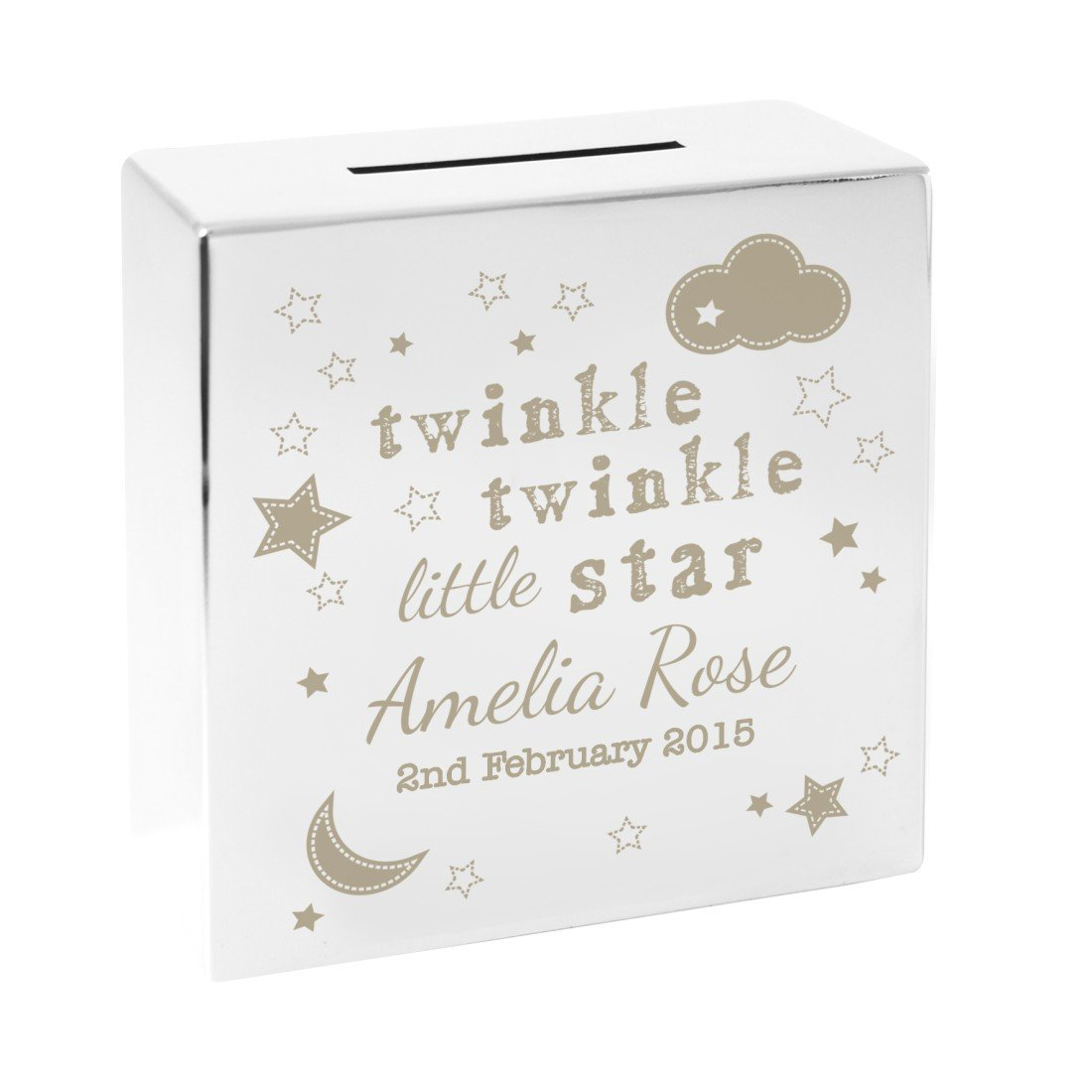 New Baby Birth Twinkle Twinkle Card Boy Girl Personalised Personalised A Beautiful Card To Welcome