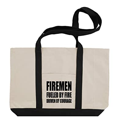 5893d73878 hot sale Firemen Fueled By Fire Driven By Courage Cotton Canvas Boat Tote  Bag Tote