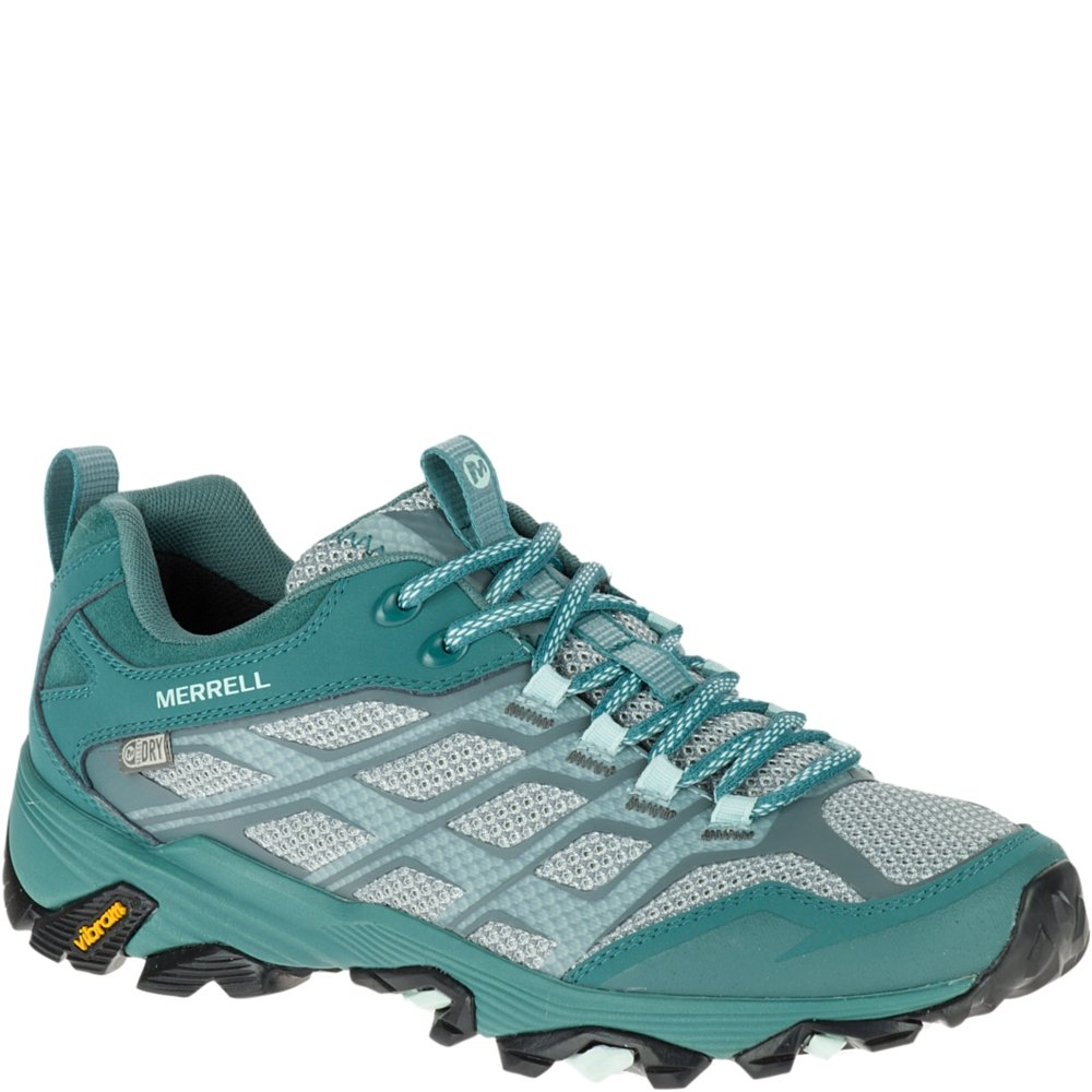 Merrell Women's Moab Fst Waterproof Hiking Boot, Sea Pine, 7 M US