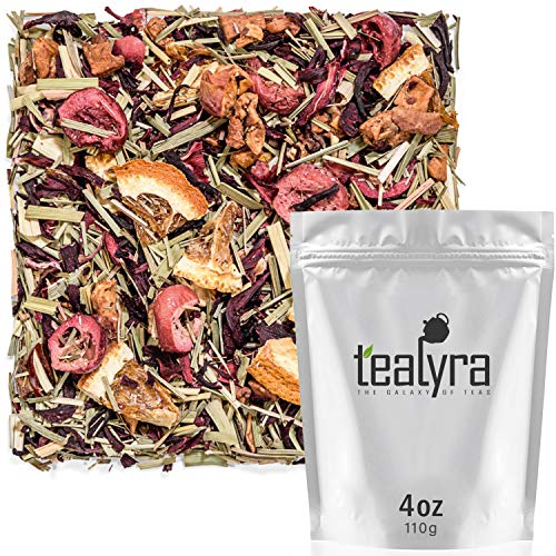 (Tealyra - Red Hot Cranberry - Hibiscus - Orange - Apple - Fruit Loose Leaf Tea - Herbal Infusion - Balance Blood Sugar - Hot and Iced - Caffeine-Free -)