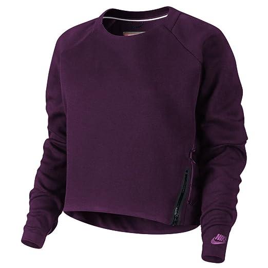 431734e411c6 Amazon.com  Nike Women s Tech Fleece Aeroloft Crewneck 683935 ...