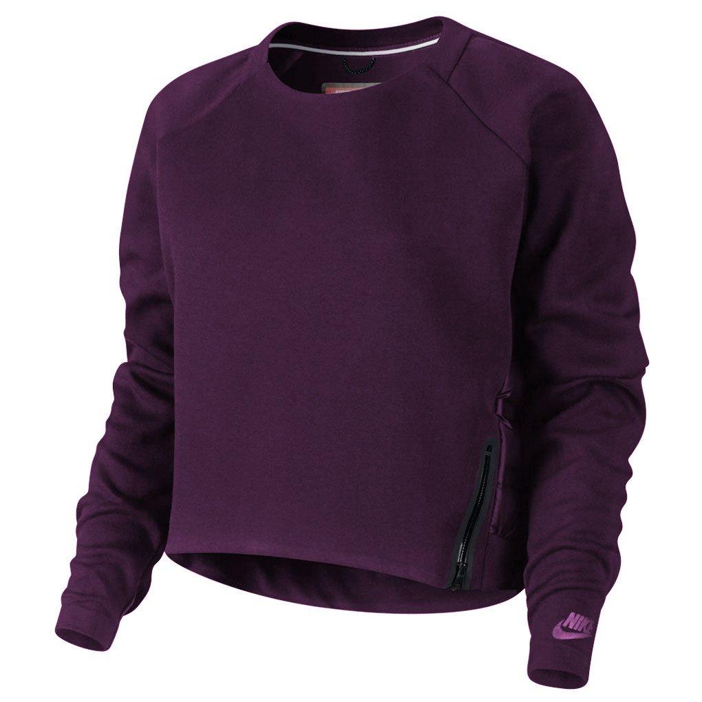 Nike Women's Tech Fleece Aeroloft Crewneck 683935 (Medium, Purple Heather)
