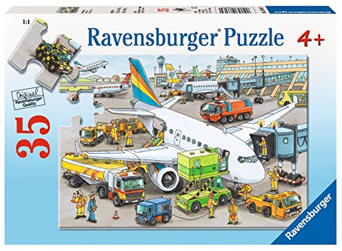 Ravensburger At the Airport - 41 pc See-Inside Frame Puzzle