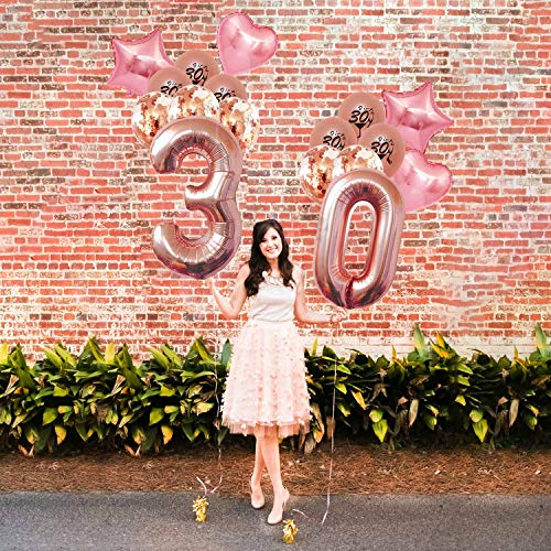 30th Birthday Decorations For Women Her Party Supplies Dirty Thirty Rose Gold Girl Kit