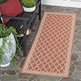 "Safavieh Courtyard Collection CY5142A Rust and Sand Indoor/ Outdoor Runner (2'3"" x 6'7"")"