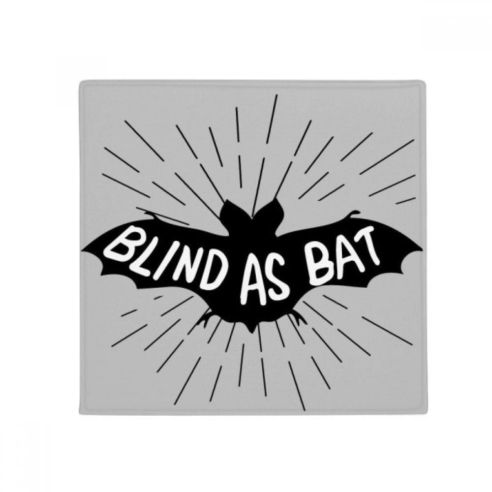 DIYthinker Black Bat Animal Silhouette Natural Anti-Slip Floor Pet Mat Square Home Kitchen Door 80Cm Gift