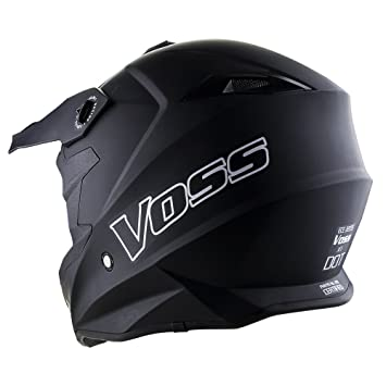 Amazon.com: Voss X1 Pro Motocross Helmet with Quick Release and Voss ONE Red and Blue EMerica MX goggles set - L - Matte Black: Automotive
