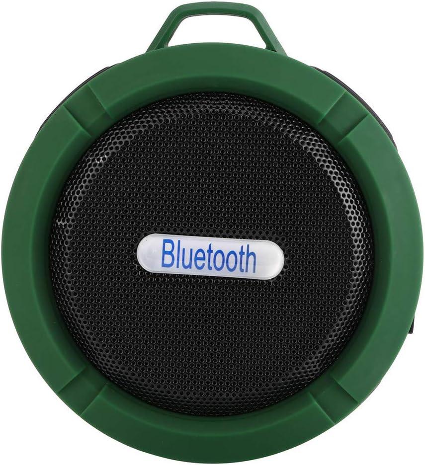 Carte TF avec Dragonne pour Les t/él/éphones informatiques Basse Am/élior/ée Enceinte Bluetooth Portable Waterproof Douche Haut-Parleur Bluetooth sans Fil Portable Subwoofer avec Son 360/°