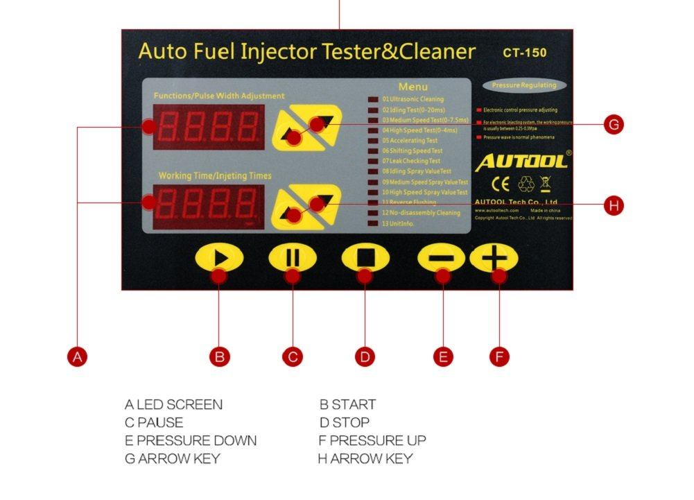 AUTOOL MINI CT-150 Automotive 4 Cylinder Ultrasonic Wave Injector Cleaner and Tester Support Motorcycle CT150 Automotive Fuel Cleaning Tools With Motorcycle Adapters by AUTOOL (Image #3)