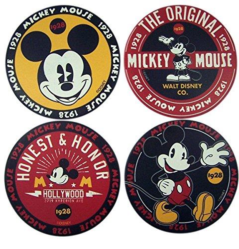 Disney Mickey Mouse 1928 Classic Ceramic Coaster Set, Set of 4