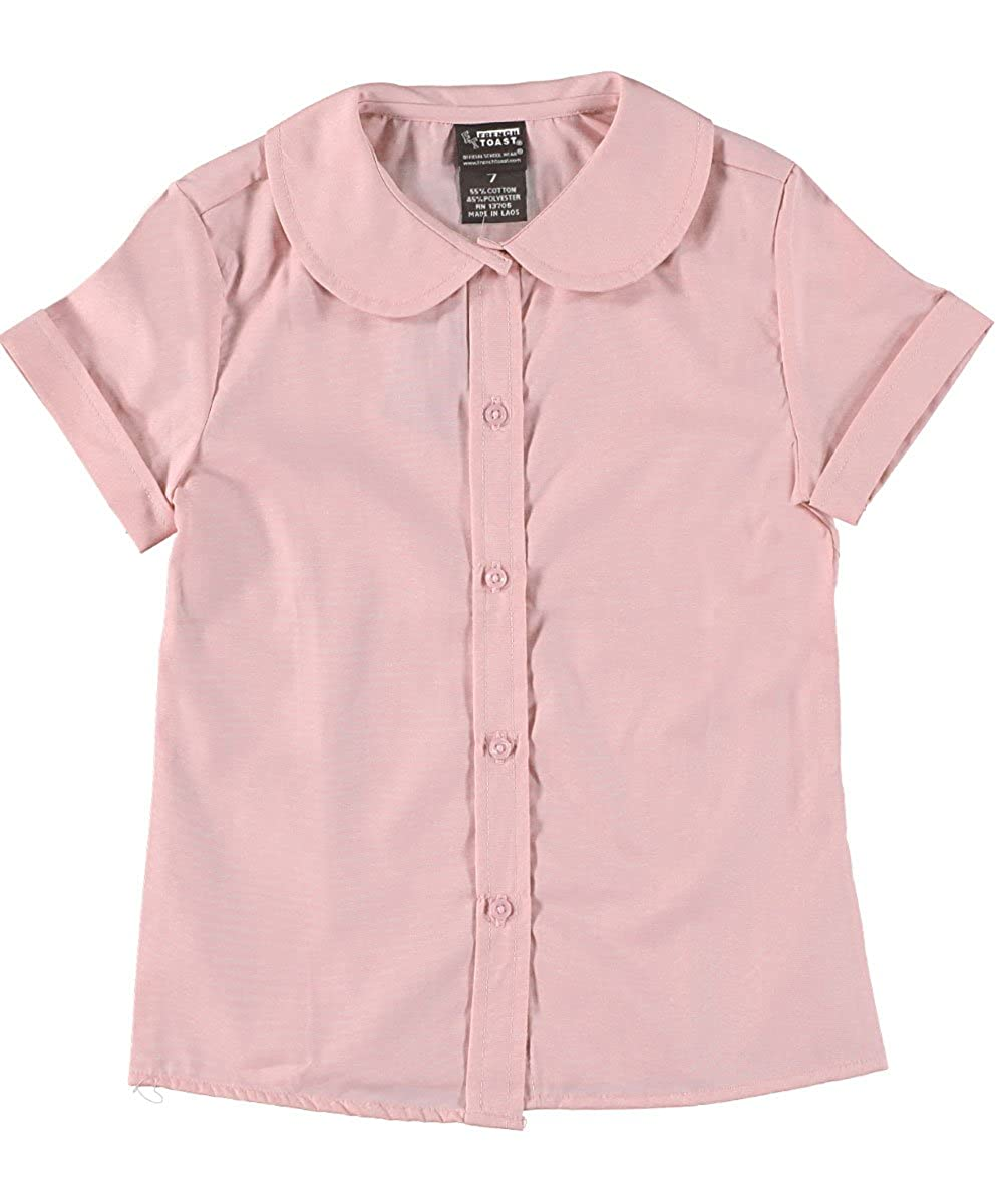 French Toast Big Girls' S/S Peter Pan Fitted Shirt