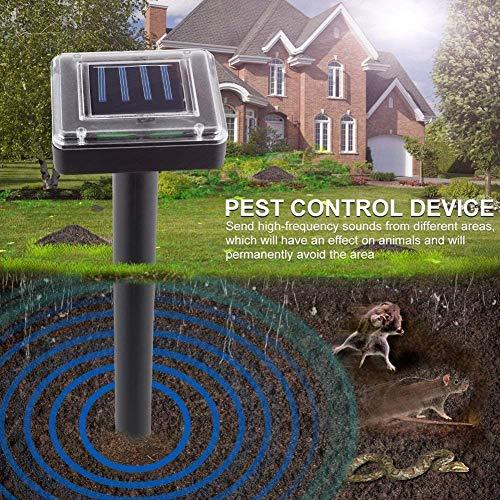 [2 Stück] Solar Maulwurfschreck, Ultrasonic Solar Maulwurfabwehr, IP56 Wasserdicht Wühlmausschreck, Mole Repellent, Maulwurfbekämpfung, Tiervertreiber Schädlingsbekämpfung für Den Garten