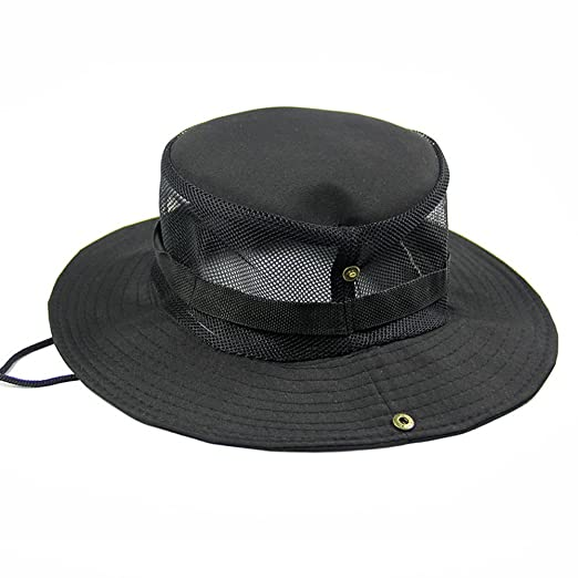 f6f99411e167ae Outdoor Camping Hat Fishing Caps Sun Protection (Black) at Amazon ...