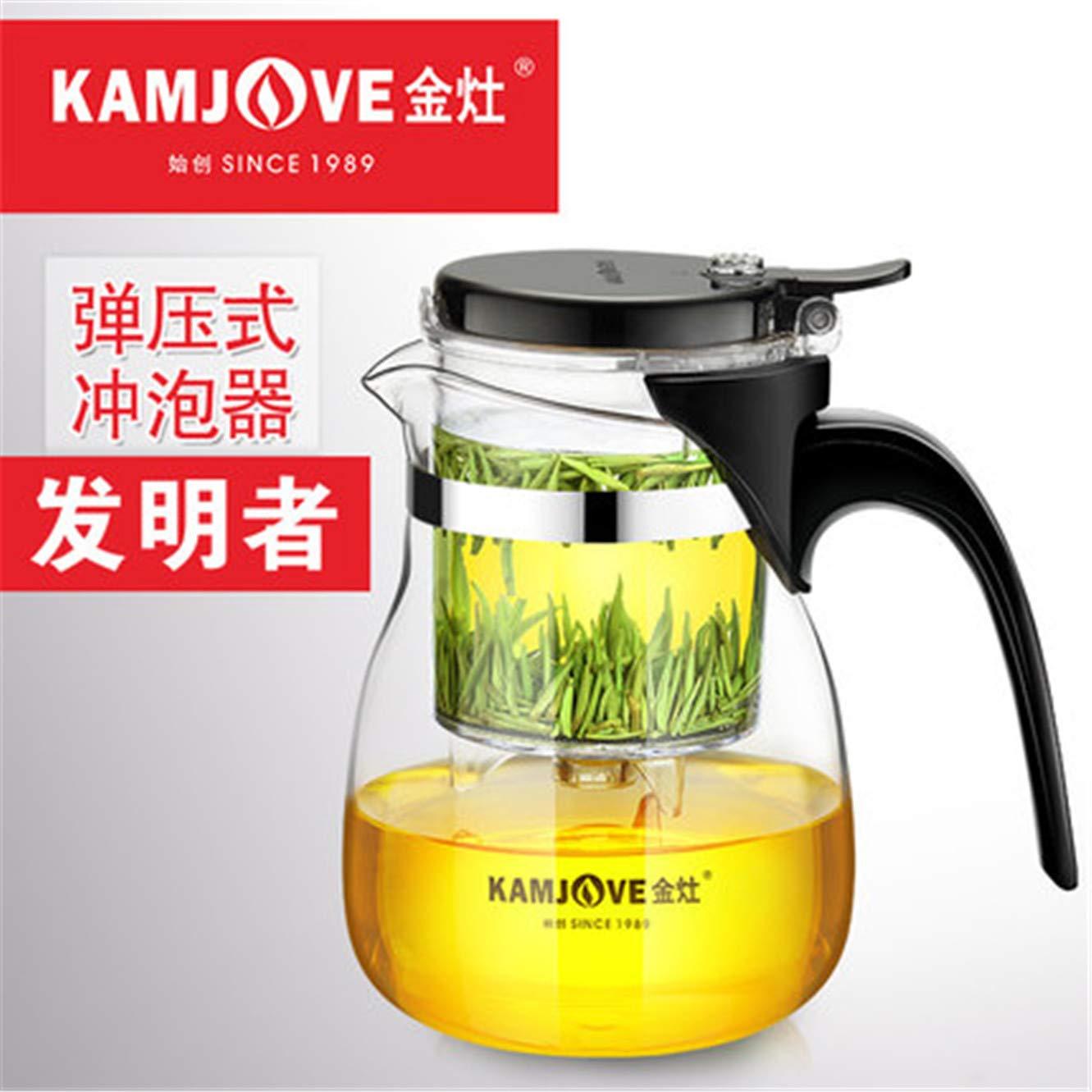 Taza de t/é Color Verde xuan TP-757 Kamjove Kunst 700 ml, Cristal
