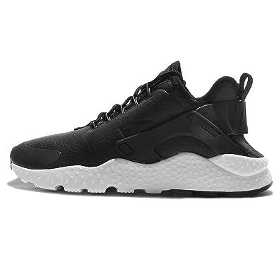 NIKE Womens Air Huarache Run Ultra PRM Straps Running Shoes Black 5 Medium (B,M)