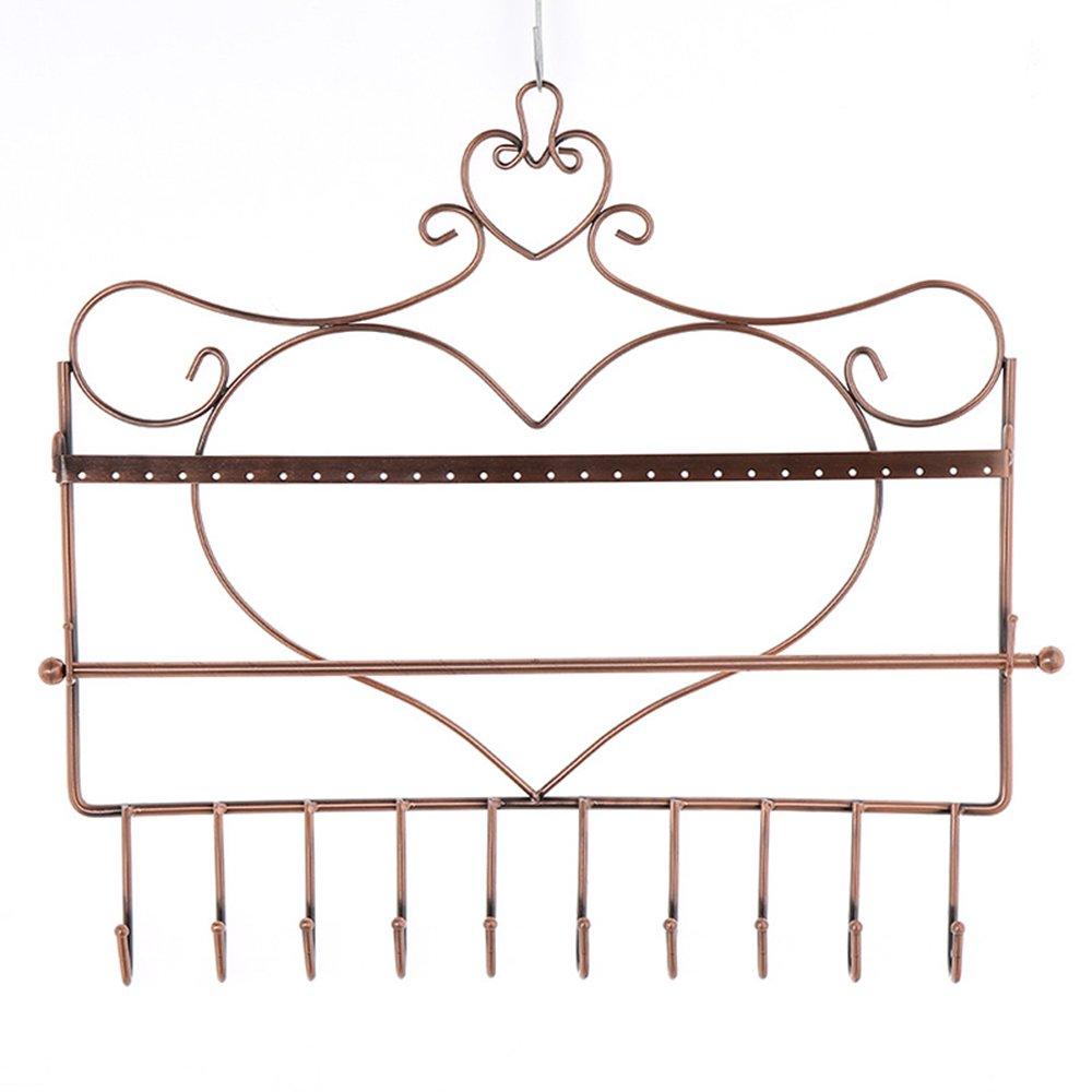 fer Art support mural en forme de cœur multifonction Bijoux Organiseur à suspendre Boucles d'oreilles support présentoir à collier de Generic