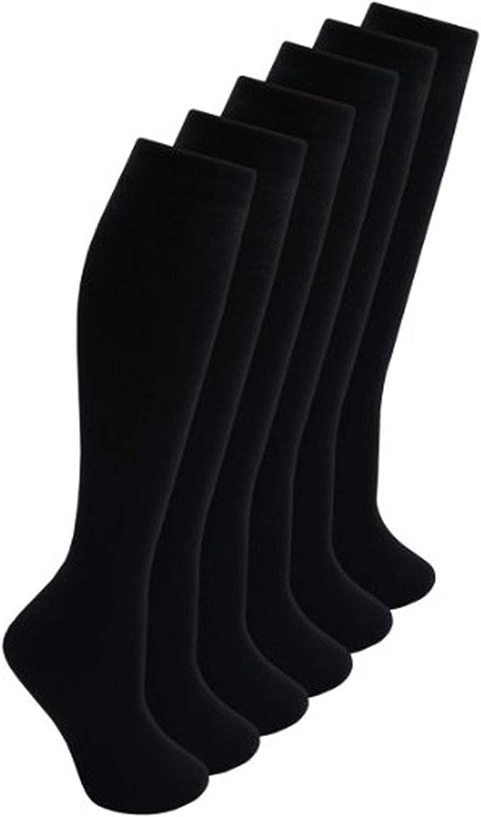 Unisex Idea Back To School Cotton Rich Socks Size 6-8 White,Black /& Grey 3 pairs