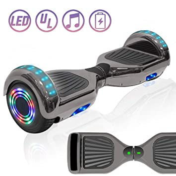 Amazon.com: NHT - Patinete con luces LED y altavoz (cromado ...