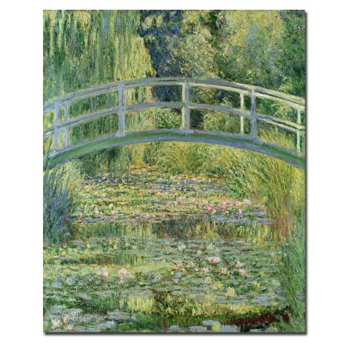 The Water-Lily Pond Pink Harmony, 1899 by Claude Monet, 18x24-Inch Canvas Wall Art ()