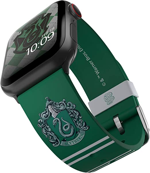 Harry Potter - Slytherin Smartwatch Band – Officially Licensed, Compatible with Apple Watch (not Included) – Fits 38mm, 40mm, 42mm and 44mm