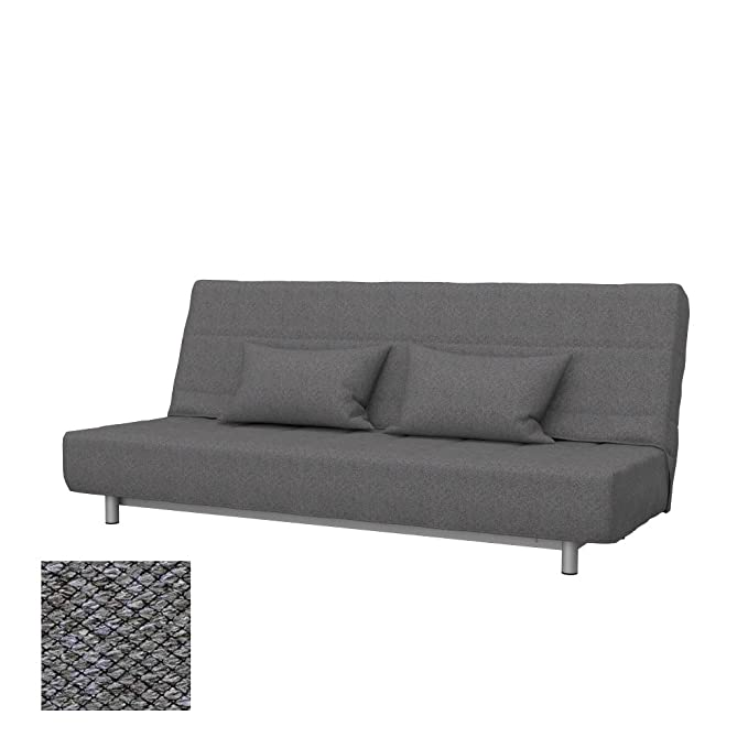 Soferia - Replacement Cover for IKEA BEDDINGE 3-seat Sofa-Bed, Nordic Grey