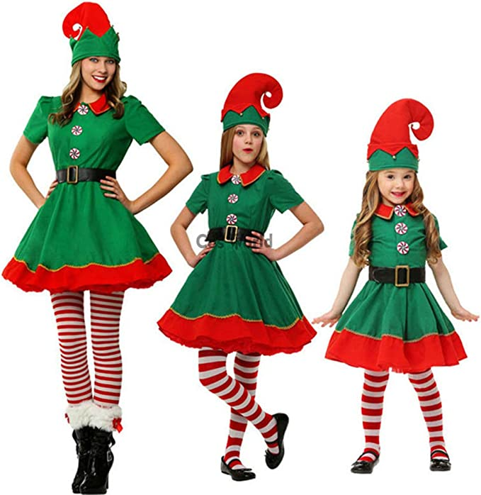 Navidad de la Familia Disfraces Cosplay Set Parent Niño Navidad ...