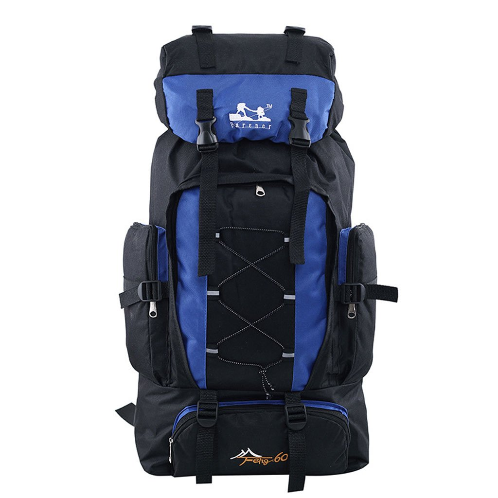 YAN Großvolumige Outdoor-Camping Bergtasche Männer Und Frauen Schulter,Blau