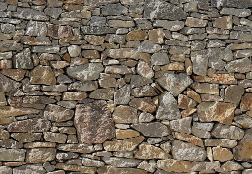 Wall Huge Poster (Stone Wall Huge Wall Mural 8-727 by Komar 12 Feet Wide x 8 Feet 4 Inch High Photo Mural)