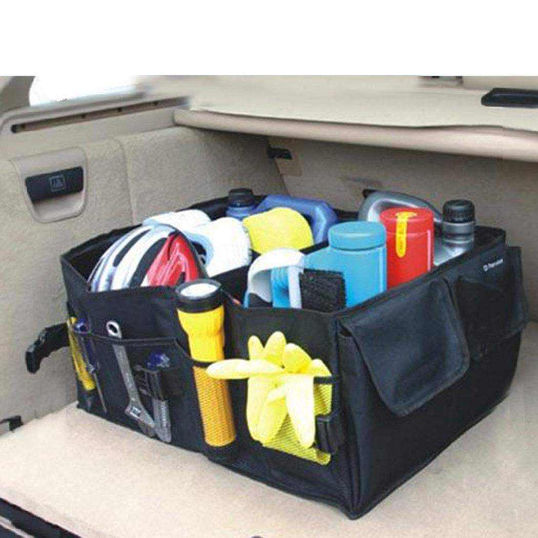Pinsparkle Car Storage Bag Organizer Trunk Folding Car Storage Box Storage Cabinets Durable Portable Multifunctional
