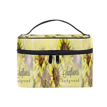 bc412a309b0e Cosmetic Bag Sunflowers WatercolorTravel Makeup Brush Organizer ...
